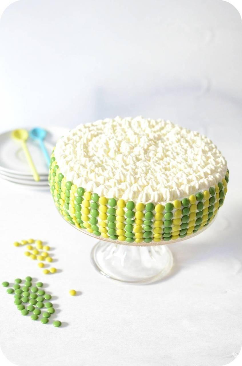 Layer Cake Jaune et Vert à la Vanille