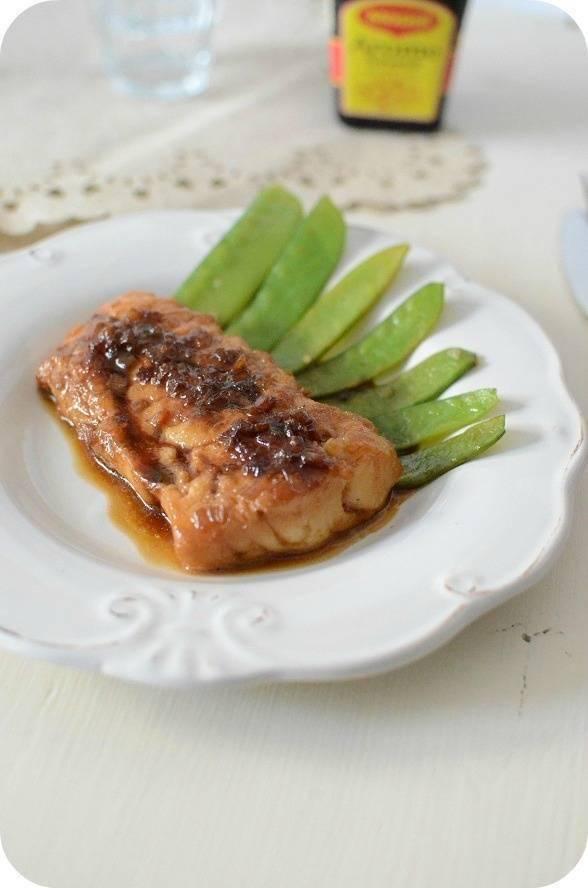 Filet de poisson caramélisé à l'arôme