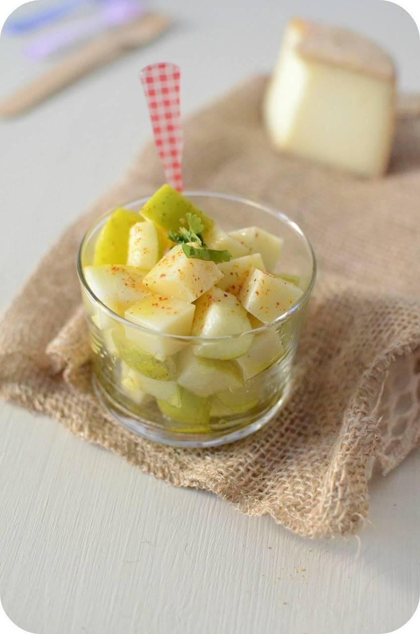 Salade de Pomme et fromage Pur Brebis Pyrénées au Piment d'Espelette
