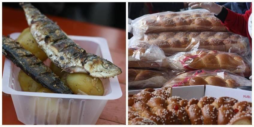 Sardines, bonnottes grillées et brioche vendéennes