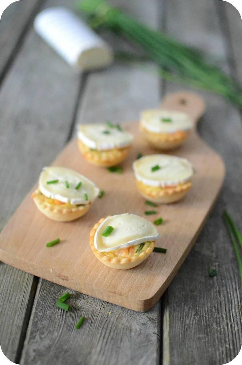 Tartelettes apéritives au Saumon et Caprice des Dieux