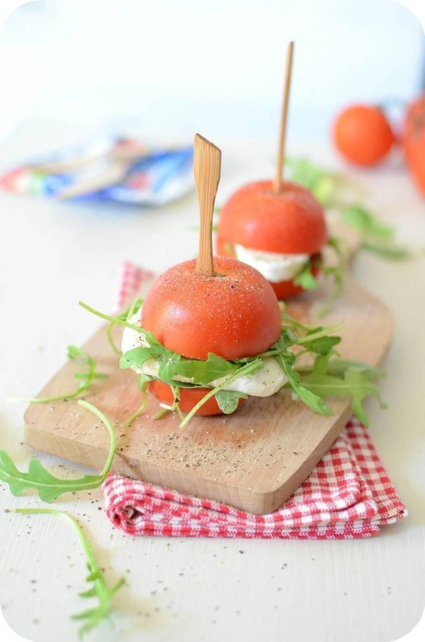 Mini-Burgers de Tomate à la Gran Mozzarella