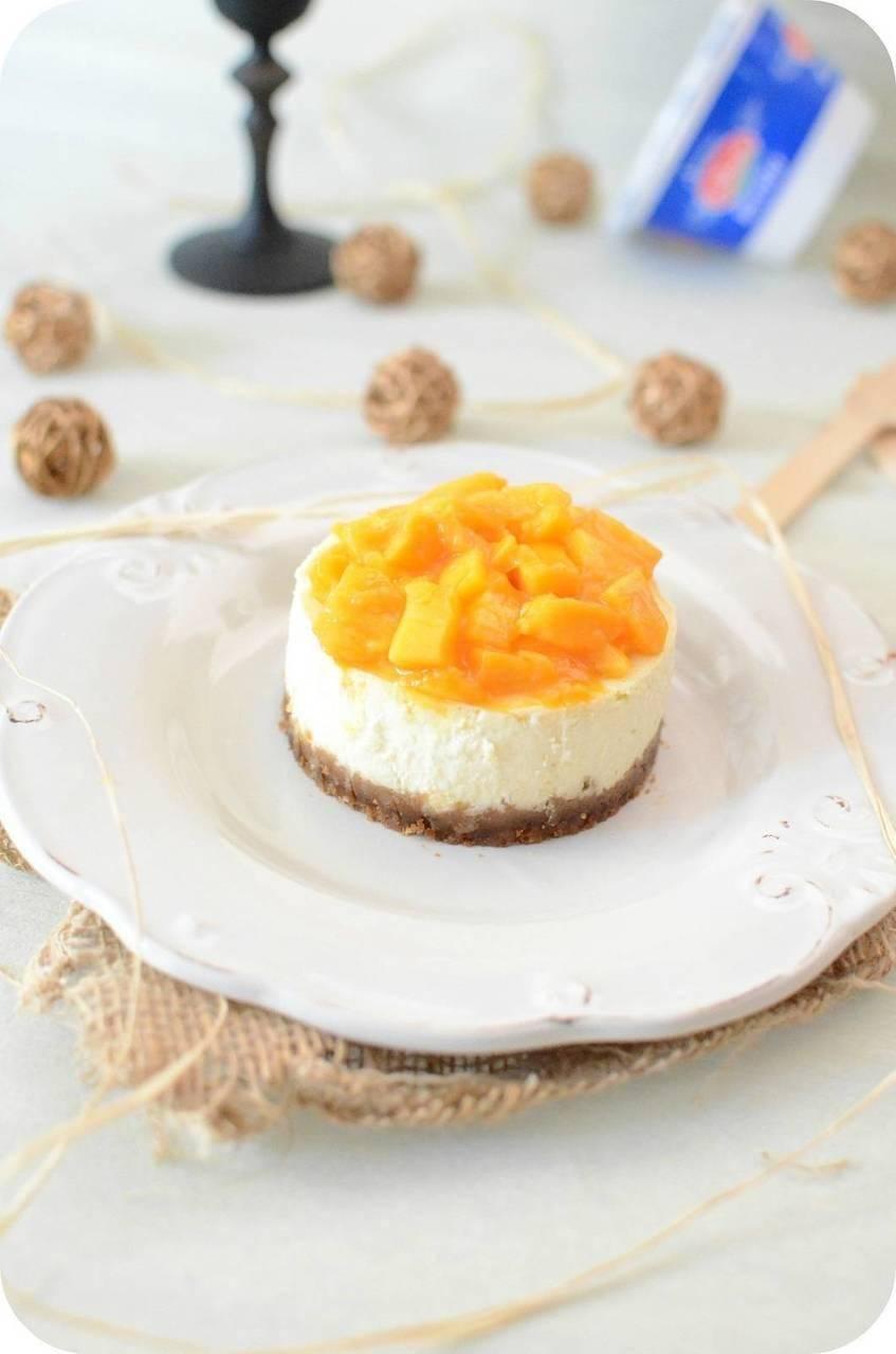 Cheesecake à la Ricotta et à la Mangue