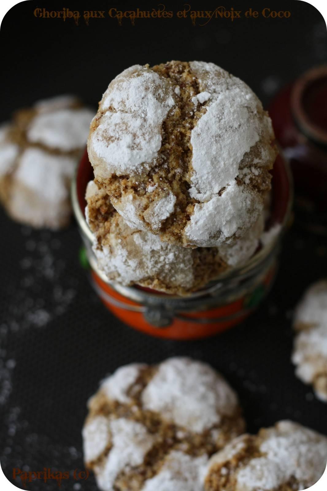 Ghoriba aux Cacahuètes et à la Noix de Coco - Paprikas