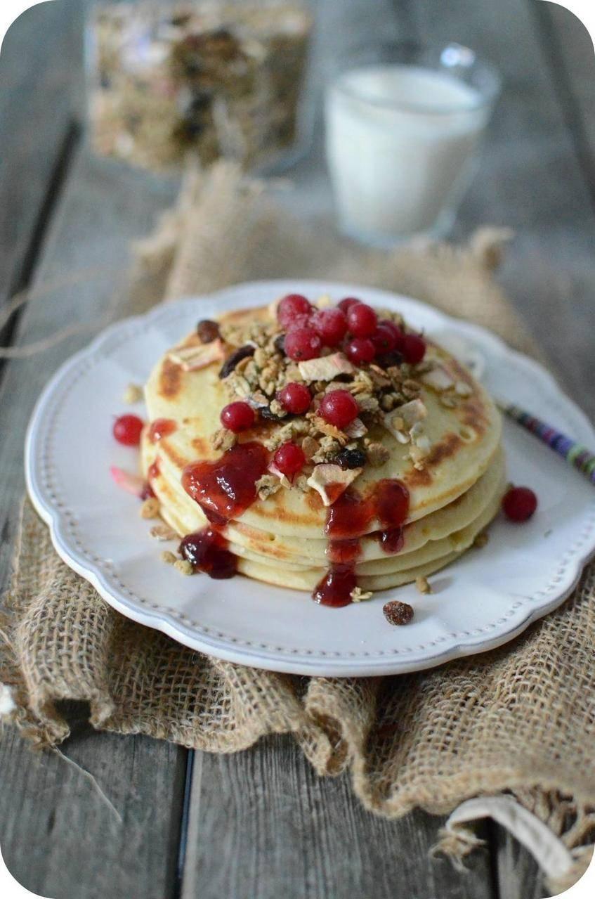 Pancakes à la Crème Fraîche