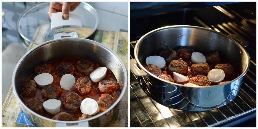Pas à pas 3 : Boulettes rôties Mozzarella