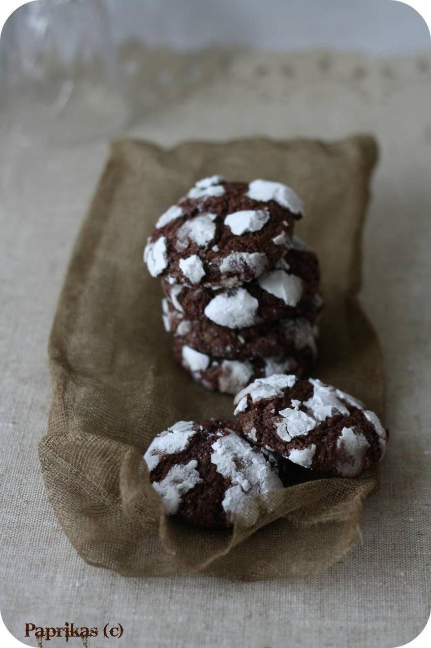 Biscuits craquelés au Chocolat - Paprikas