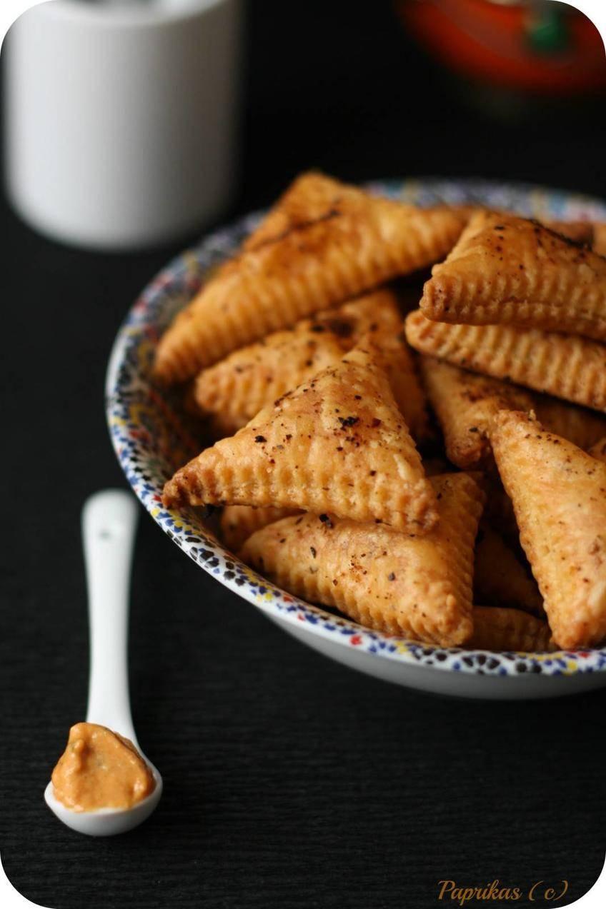 Biscuits Feuilletés à la Moutarde - Paprikas