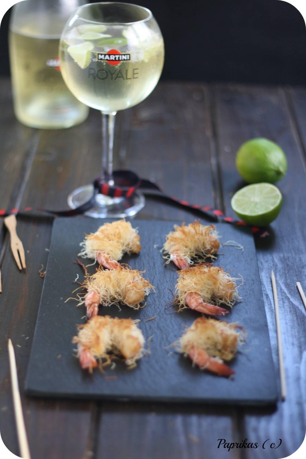 Crevettes Epicées au Kadaïf pour un Apéro Royal - Paprikas