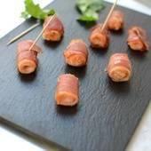 Brochettes de Saumon Fumé au Lard - Paprikas