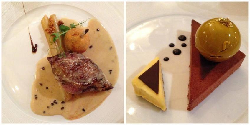 Le dernier plat et le dessert...