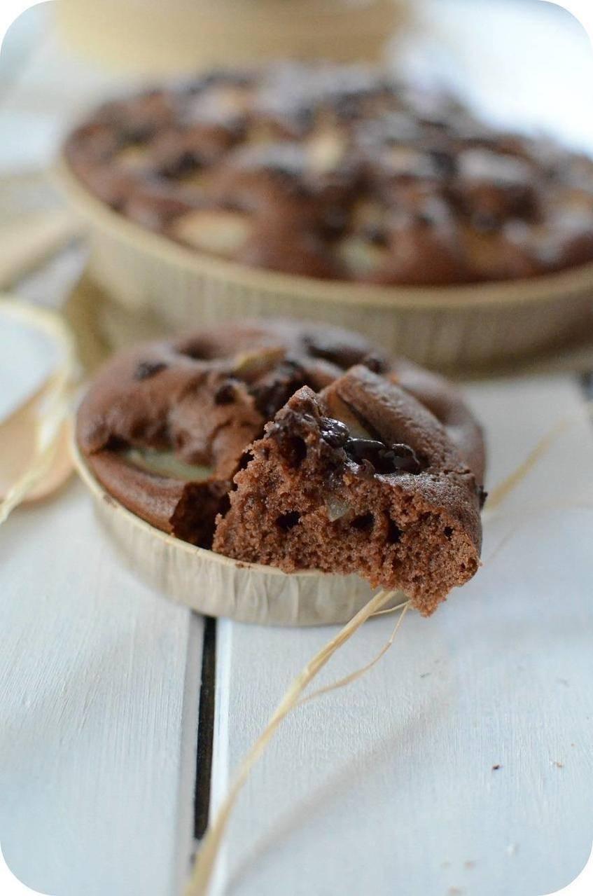 Moelleux au Chocolat, Poires et Huile d'Olive