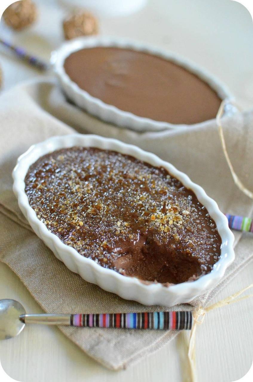 Crème Brûlée au Chocolat, cuisson sans four