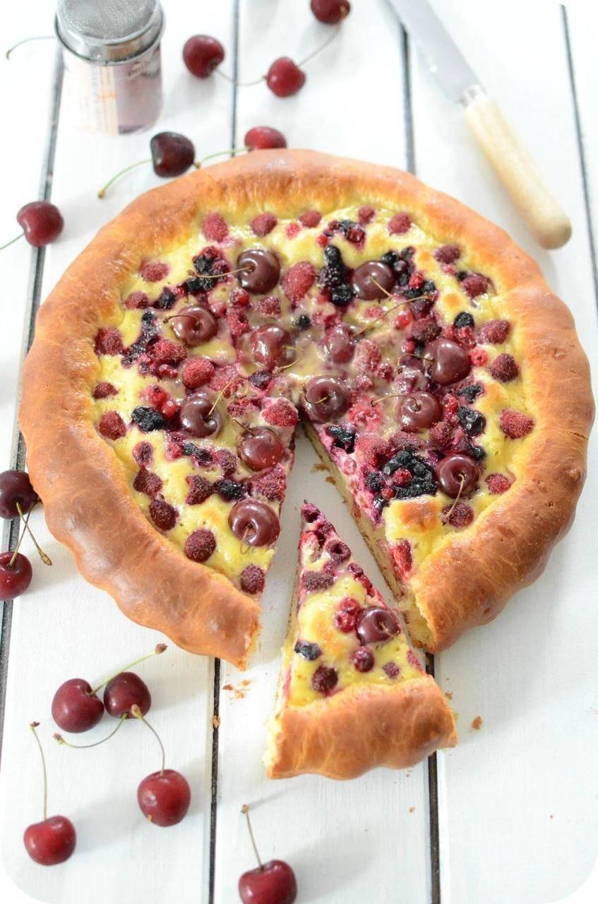 Tarte Briochée aux Fruits Rouges
