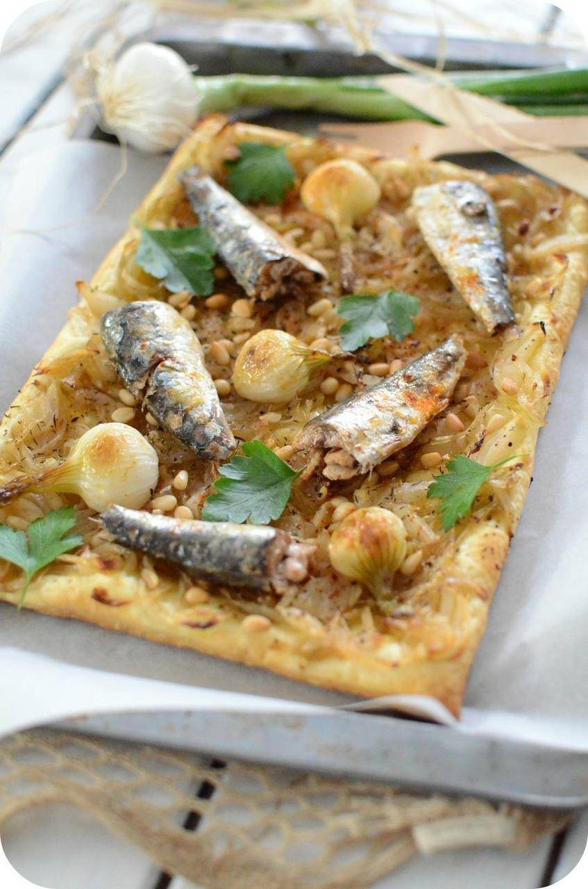 Tarte Feuilletée aux Sardines