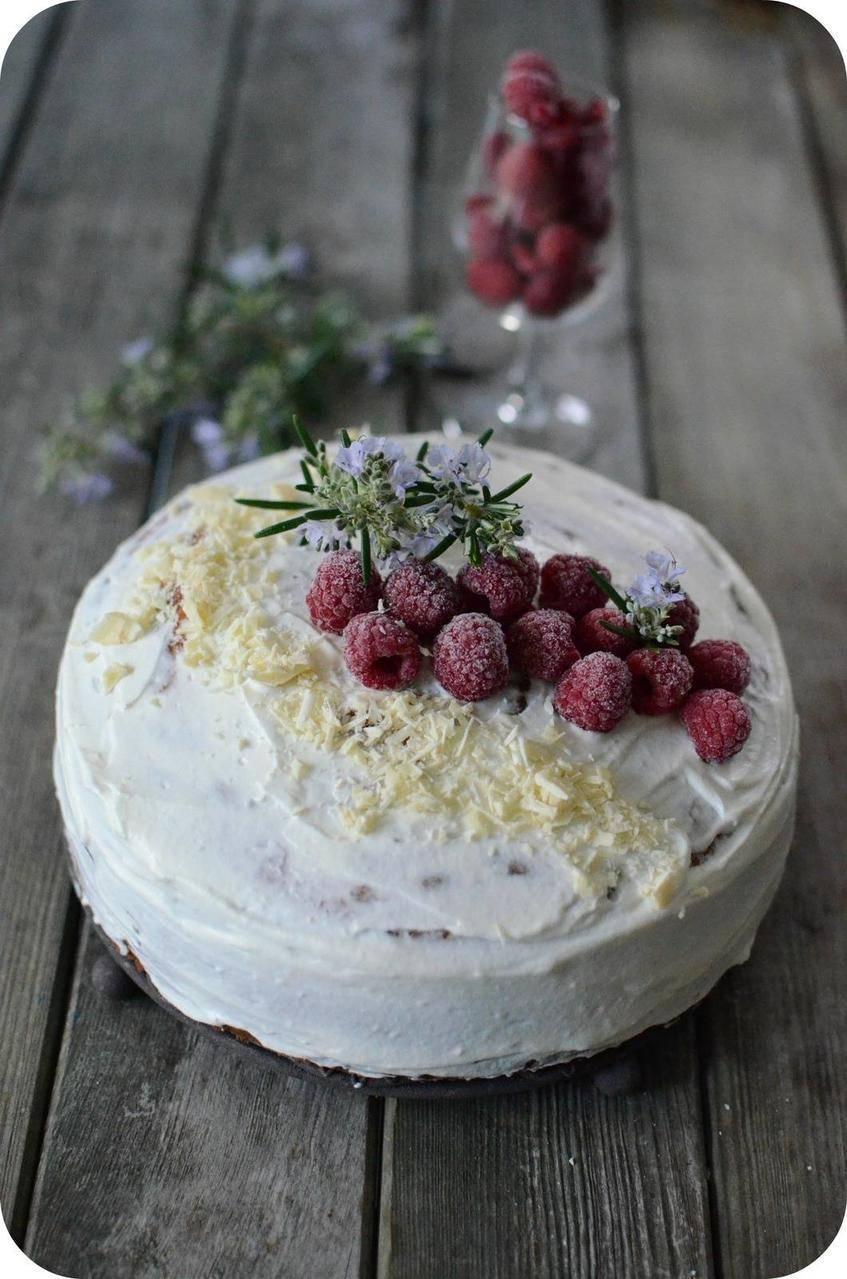 Gâteau au Lait concentré sucré et aux Framboises