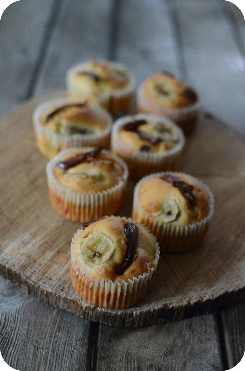 Muffins à la Banane et aux Dattes