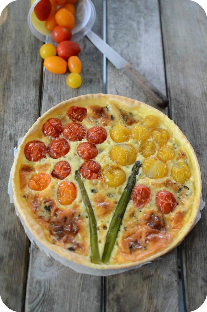 Tarte à la Tomate Cerise et à la Fourme