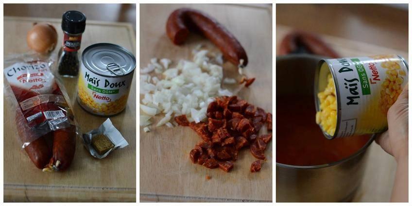 Soupe de Maïs au Chorizo
