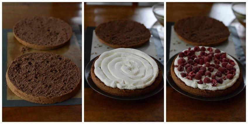 Naked Cake au Chocolat et Framboises