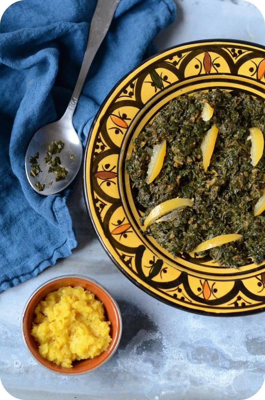 Salade d'Epinards à la Marocaine